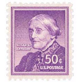 Us Sc #1051 - 1955 50c Susan B. Anthony Con Matasello.