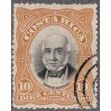 Costa Rica 1901 Sc #48 Braulio Carrillo 10c Con Matasello.