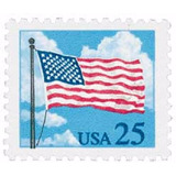 Us Sc #2278 - 1988 25c Flags And Clouds Con Matasello
