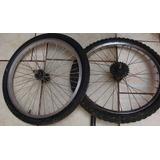 Aro Con Llanta 22 Y Horquilla Para Bicicleta 18.
