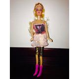 Linda Barbie Con Moderno  Vestido De Avalorios