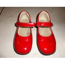 Preciosos Zapatos Rojos Españoles Talla 26
