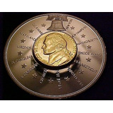 Moneda Americana Incrustada Jefferson Nickel 2001 Edicion Li