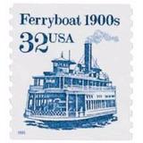 Us Sc #2466 - 1995 32c Ferryboat, Coil  Con Matasello.