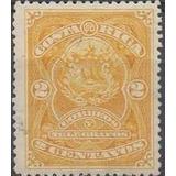 Costa Rica 1892 Sc #36 Escudo 2c Con Matasello.