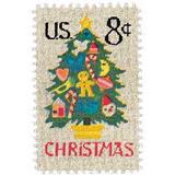 Us Sc #1508 - 1973 8c Christmas Tree Con Matasello.