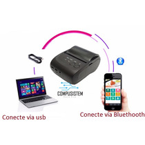 Impresora 58mm Bluetooth  Android + Estuche Mas 2 Rollos