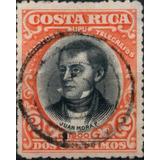 Costa Rica 1901 Sc #46 Juan Mora Fern. 2c Con Matasello.