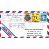 Sobre Correo Aereo Registrado Costa Rica A Guatemala 1971