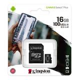 Memoria Micro Sd Kingston 16gb A1 Clase 10 100x Canvas Selec