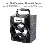 Parlante Bluetooth Led De Colores. Fm. Usb. Microsd. Ganga*