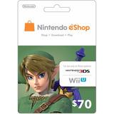 Nintendo Eshop $70 Gift Card - Switch | Wii U | 3ds