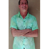 Camisa De Botones Teñida En Técnica Del Tiedye
