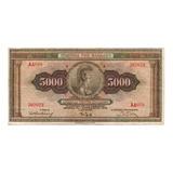 Billete De Grecia 5 Mil Dragmas Año 1932 Circulado Apo