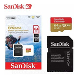 Micro Sd Sandisk Extreme 4k *clase 10 64 Gb *itech