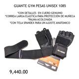 Guantes Gym Pesas Unisex Cuero Correa  Protección De Muñeca