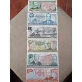 Billetes De Colección Nuevos Sin Uso (la Venta Es Por Los 6)