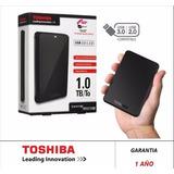 Disco Duro Externo Toshiba Canvio 1tb Usb 3.0 2.5 Negro