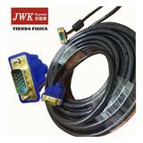 Cable Vga 20 Metros 10/5/3m Macho A Macho Monitor Jwk