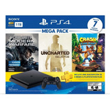 Ps4 1tb Crash Bandicoot, Uncharted Collection Y Call Of Duty