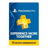 Psn Playstation Plus 1 Año - Ps4 - Usa | Kalmi Store