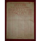 Cartel De Loteria Jps Del Asilo Chapui De 1962