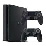 Consola Ps4 Slim 1tb + 2 Controles + 2 Juegos A Elegir