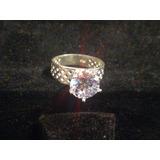 Anillo De Plata 925 Numero 6  Con Diamante  Zirconia Cúbica