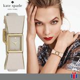 Reloj Kate Spade Ksb0898 Lazo Crema Dorado -70% - Original