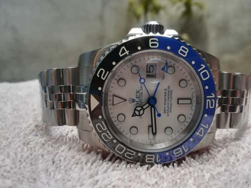 Rolex Gmt  Master  Ii  4 Agujas Caratula Blanca  18kl