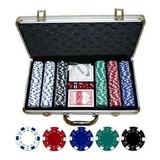 Set Completo Para Poker (valija De Aluminio Con 300 Fichas )