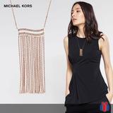 Michael Kors Collar Wonderlust Oro Rosa -60% Original Nuevo