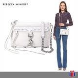 Rebecca Minkoff Bolso Mini Mac Blanco -65% Original Nuevo