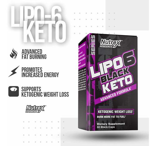 Keto Lipo 6 Black Quemador Grasa Unique Store Cr