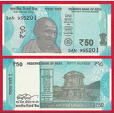 Billete De India 50 Ruppes 2017, P-new .unc , Mlc