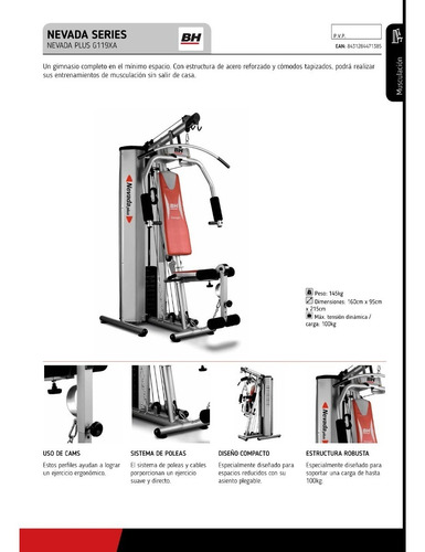 Maquina Ejercicio Home Gym Nevada Bh G119