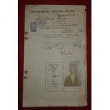 Pasaporte Antiguo De C.r Con Resello Britanico