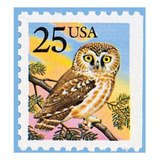 Us Sc #2285 - 1988 25c Owl From Booklet Con Matasello.