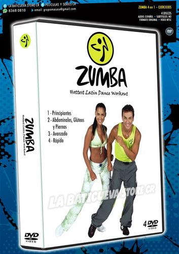 Dvd Ejercicios - Zumba 4 En 1 - La Baticueva
