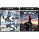 2 Películas En 4k Y Bluray: Insurgent Y Divergent, Nuevas
