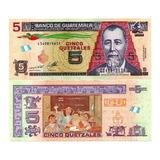 Billete De Guatemala 5 Quetzales Numismatic Collection