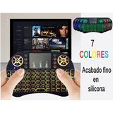 Mini Teclado Mouse Inalambrico Smart Tv Box 7 Lucesen1 Goma