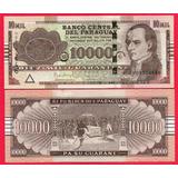 Billete De Paraguay 10000 Guaranies 2015,p-new Unc, Mlc
