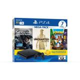 Playstation 4 Ps4 Slim 1tb 3 Discos 1 Membresía Nuevo Tienda
