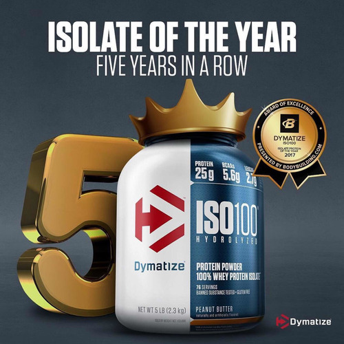 Proteína Iso100 Hidrolizada 5libras 77 Serv Unique Store Cr