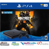 Ps4 Playstation 4 1tb Nuevos Black Ops 4+ 7jgs + Financiami