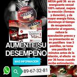 Mega Gold 36 Pastillas 100% Naturales