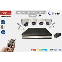 Kit 4 Camaras Ip Seguridad Ipc Domo 1080p Hd Cctv Jwk Vision