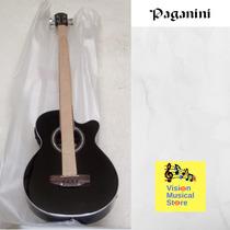 Bajo Electroacústico 4 Cuerdas Marca Paganini