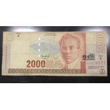 Billete Antiguo De Costa Rica 2000 Conmemorativo 30/7/97 Jmg